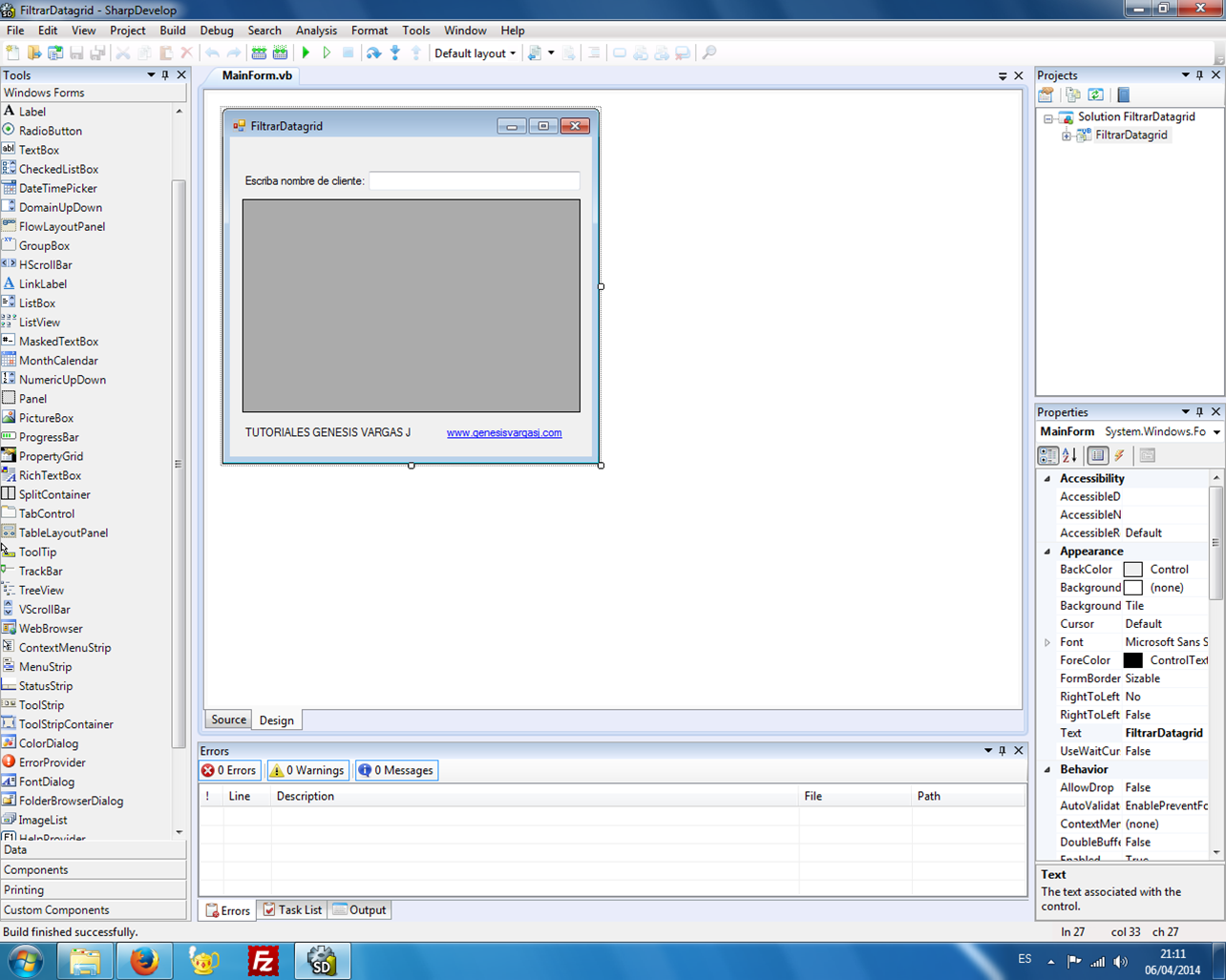 Filtrar Datagridview Visual Basic .NET