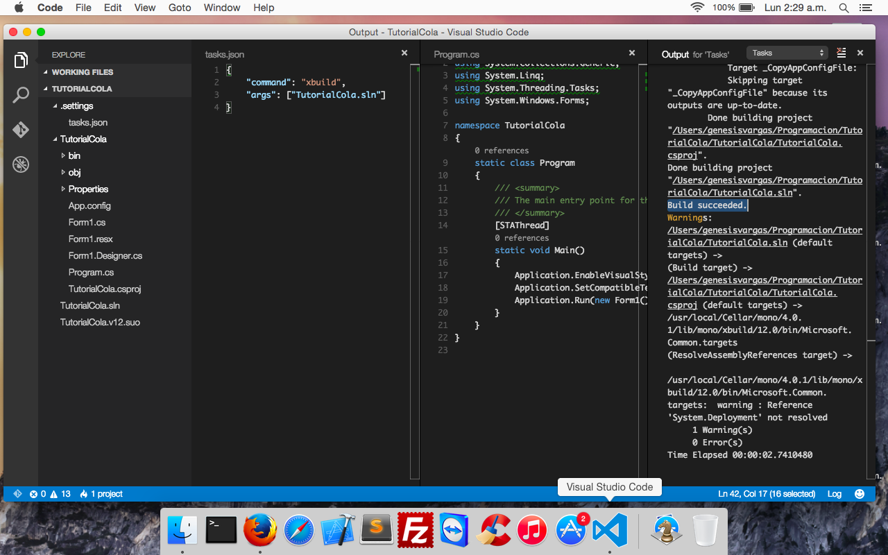 Visual studio code build osx linux